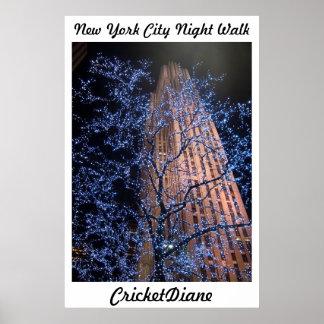 NYC Nightwalk CricketDiane WalkAbout Poster