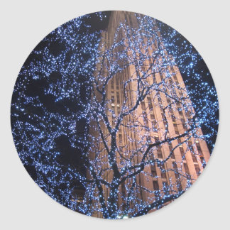 NYC Nightwalk CricketDiane WalkAbout Round Sticker