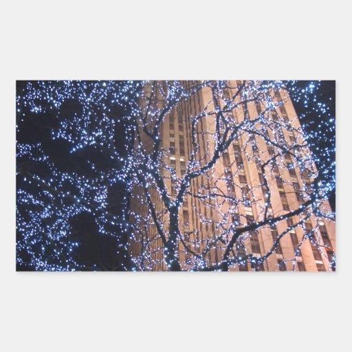 NYC Nightwalk CricketDiane WalkAbout Rectangle Sticker