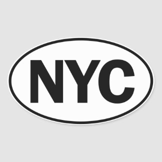 NYC Oval Identity Sign Oval Sticker