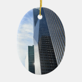 NYC Photography Sixth Avenue Skyscrapers Manhattan Ceramic Ornament
