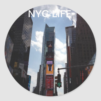 NYC Pic Paper Products Round Sticker