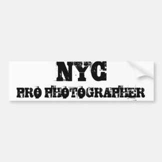 NYC PRO PHOTOGRAPHER Bumper Sticker Car Bumper Sticker