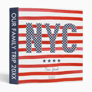 NYC | Red, White & Blue Design 3 Ring Binder