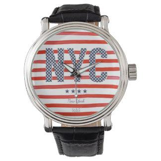 NYC   Red, White & Blue Design Watch