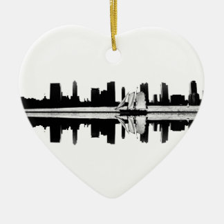 NYC Reflection Ceramic Ornament