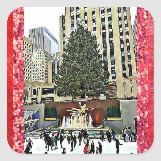 NYC Rockefeller Center Ice Skating Rink Sticker