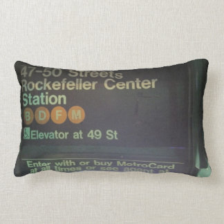 NYC Rockefeller Center Station Lumbar Pillow