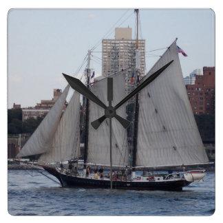 NYC Sailboat 1 Wall Clocks
