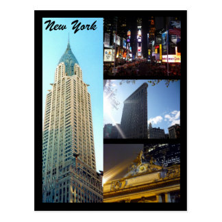 nyc scenes postcard