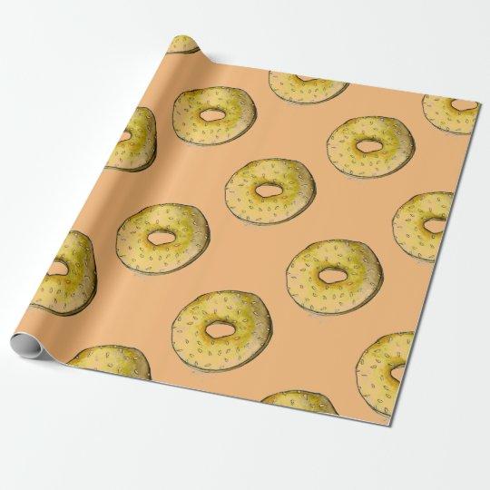 NYC Sesame Seed Bagels Bagel Foodie Gift Wrap