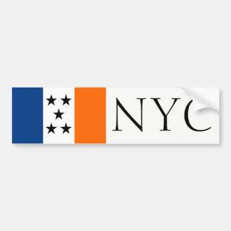 NYC simplified flag bumper sticker