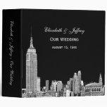 NYC Skyline 01 Etchd DIY BG Colour Wedding Binder