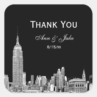 NYC Skyline 01 Etched DIY BG  Favor Tag Thank You