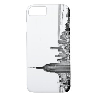 NYC skyline - Black and White iPhone Case