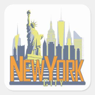 NYC Skyline Bold Stickers