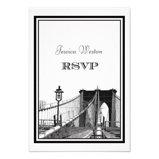 NYC Skyline Brooklyn Bridge #2 DIY RSVP Custom Invite