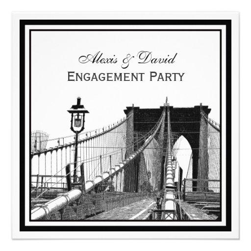NYC Skyline Brooklyn Bridge #2 SQ Engagement Announcement