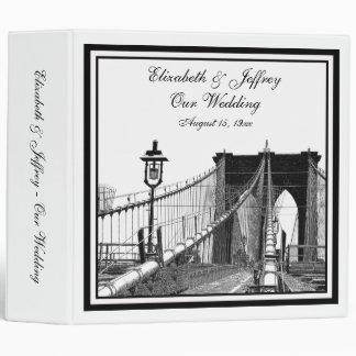 NYC Skyline Brooklyn Bridge #2 Wedding Binder