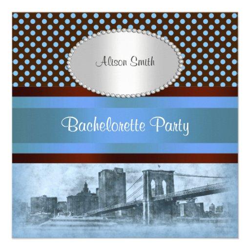 NYC Skyline Brooklyn Bridge Boat 4 Bachelorette Announcements