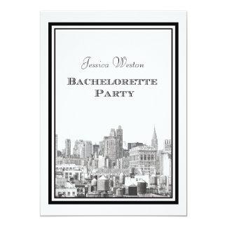 NYC Skyline Chrysler / FIatirn #2 DIY Bachelorette Cards