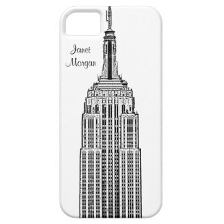 NYC Skyline - Empire State Building Etched look iPhone 5 Cover