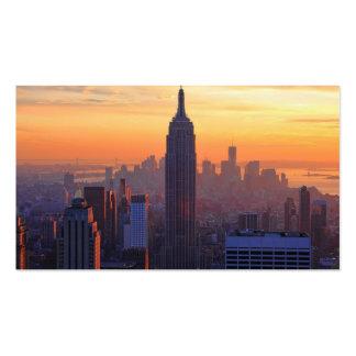 NYC Skyline: Empire State Building Orange Sunset Business Card