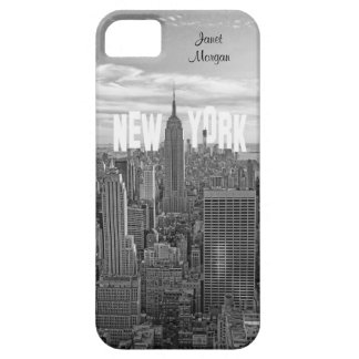 NYC Skyline Empire State Building, Wld Trd BW 2C2 iPhone 5 Case