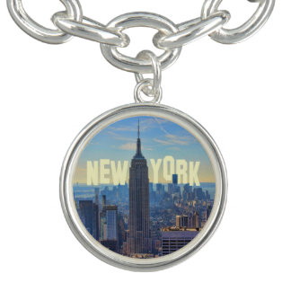 NYC Skyline Empire State Building, World Trade 2C Bracelet