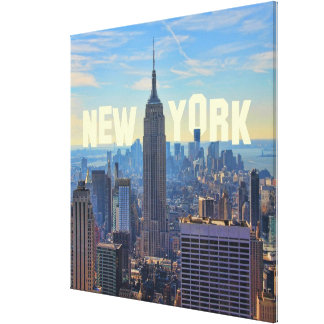 NYC Skyline Empire State Building, World Trade 2C Canvas Print