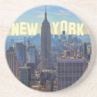 NYC Skyline Empire State Building, World Trade 2C Coaster