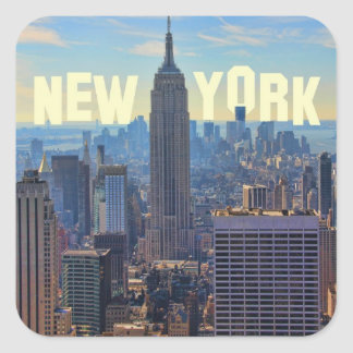 NYC Skyline Empire State Building, World Trade 2C Square Stickers