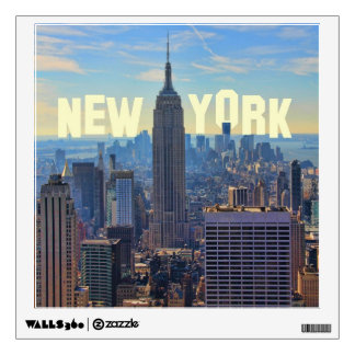 NYC Skyline Empire State Building, World Trade 2C Wall Sticker