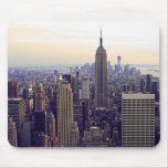 NYC skyline Empire State Building, WTC 4 Mouse Pad
