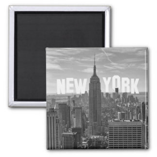 NYC Skyline Empire State Building, WTC BW 2C Magnet