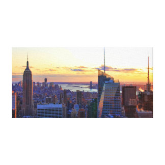 NYC Skyline: ESB, Bank of America, 4 Times Sq 001 Canvas Print