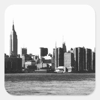 NYC Skyline ESB, East River View 001 Square Sticker