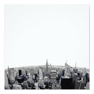 NYC Skyline Etched Fisheye View Card