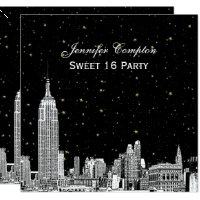 NYC Skyline Etched Starry DIY BG Colour SQ Sweet