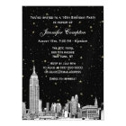 NYC Skyline Etched Starry DIY BG Colour SQ Sweet Magnetic Card