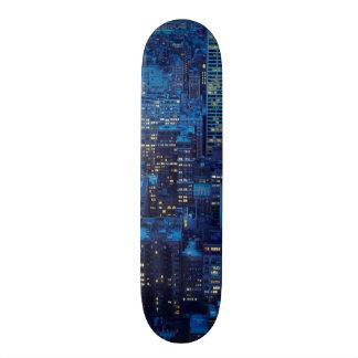NYC Skyline, high angle view at dusk Custom Skate Board