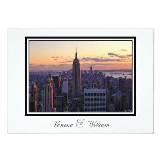 NYC Skyline just before sunset Wedding Invite