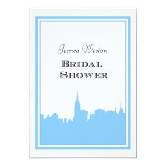 NYC Skyline Lt Blu Silhouette #2 DIY Bridal Shower Personalized Invitation