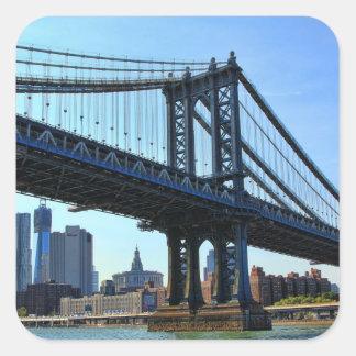 NYC Skyline: Manhattan Bridge #3 Square Sticker