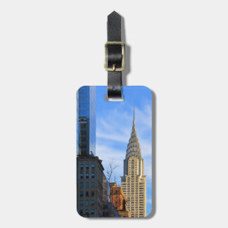 NYC Skyline: Midtown View of the Chrysler Building Luggage Tag