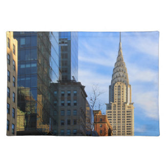 NYC Skyline: Midtown View of the Chrysler Building Place Mats