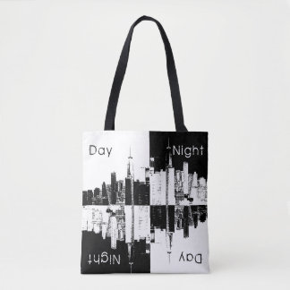 NYC skyline old vintage photo black and white Tote Bag