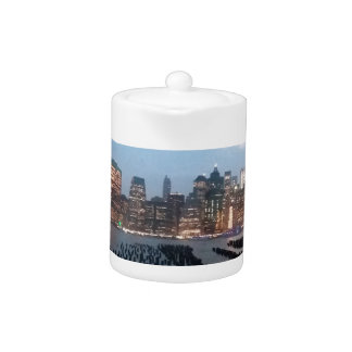 NYC Skyline on Teapot