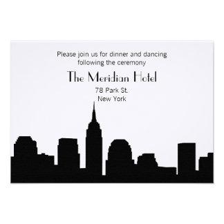 NYC Skyline Recption Card - Black