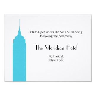 "NYC Skyline Recption Card - Empire State Building 4.25"" X 5.5"" Invitation Card"